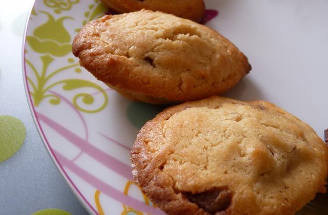 Les madeleines de Christophe Felder, au peanut butter et fourrage Nutella - Photo par miss o