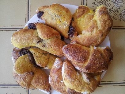 Croissants au chocolat sans gluten - Photo par mamiesosso