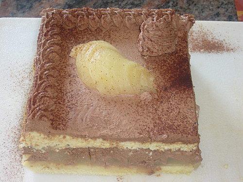 Gâteau poires / chocolat (entremet) - Photo par thierrGEe