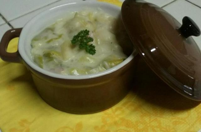 Gratin de poireaux aux petits lardons - Photo par jessicSQ