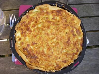 Tarte aux courgettes fromage et petits lardons - Photo par didie