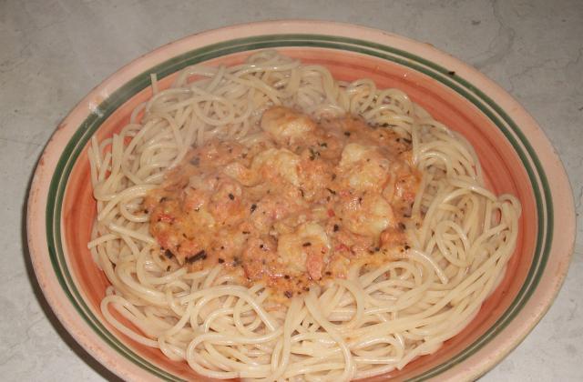 Pâtes aux crevettes - Photo par vinsou