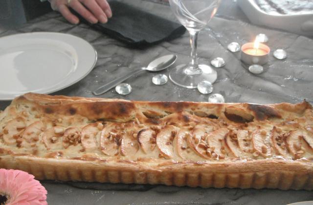 Tarte pommes / crème de marron - Photo par aux papilles