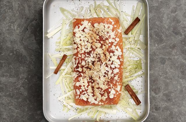 Saumon de Norvège au four aux amandes, à la cannelle et au fenouil - Photo par Seafood From Norway