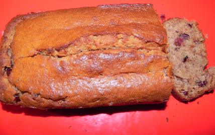 Cake aux châtaignes et cranberries - Photo par appegg