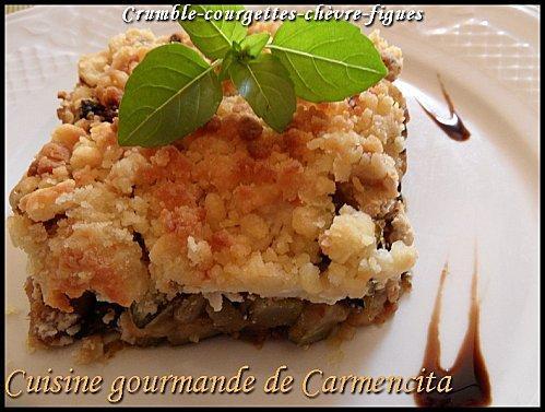 Crumble courgettes-chèvre-figues - Photo par Carmen