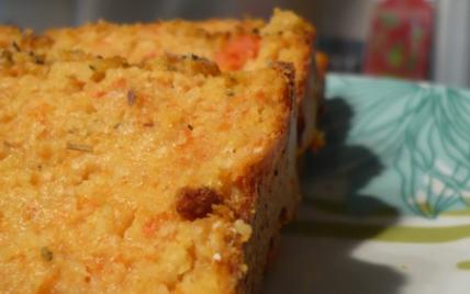 Cake croustillant à la carotte et à la polenta - Photo par titecoyote