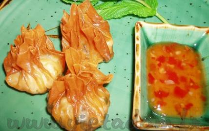 Raviolis frits à la crevette du Chef Kim - Photo par Joachim Lâm Thành