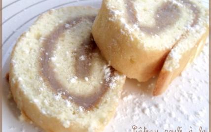 Gâteau roulé à la crème de marrons - Photo par mathildee
