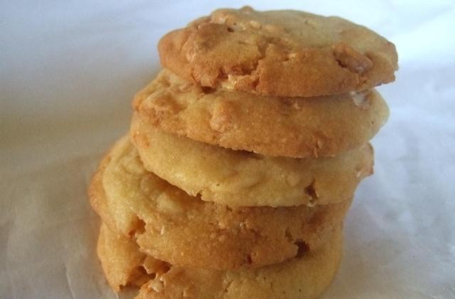 Cookies chocolat blanc et éclat de nougat - Photo par berny2B