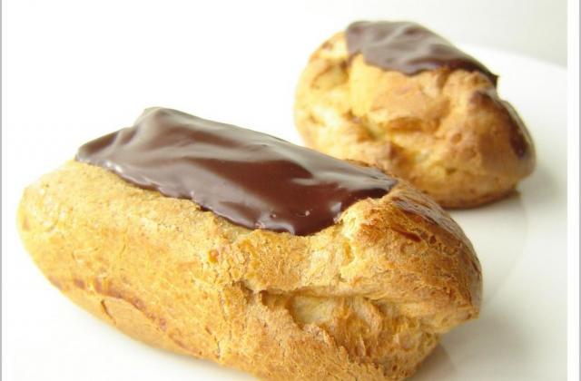 Eclairs au chocolat noir sans gluten et sans produits laitiers - Photo par patidou