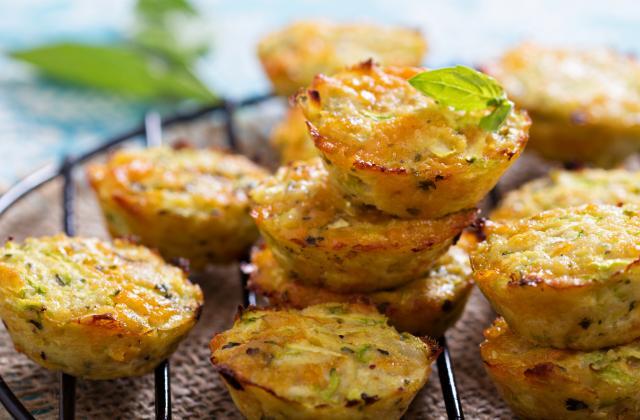 Petits flans aux courgettes,épinards et fromage - Photo par 750g