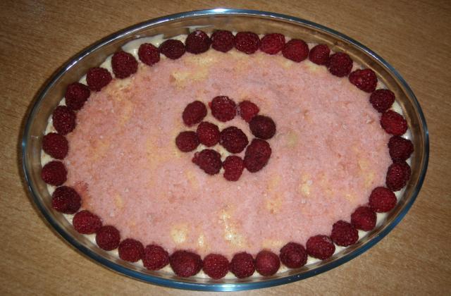 Tiramisu aux Framboises et biscuite rose de Reims - Photo par Petit Pé