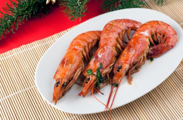 Crevettes rouges d'Argentine sautées - Photo par Chef Christophe