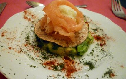 Rose de saumon fumé au coeur de sorbet de citron vert - Photo par lilimarti