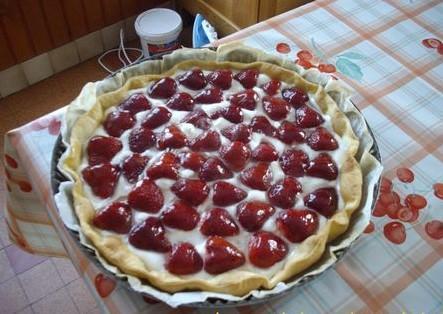 Tarte aux fraises chantilly - Photo par surlaty