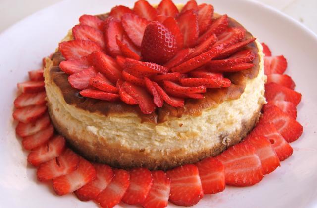 Cheesecake aux fraises inratable - Photo par La ptite cuisine de Pauline
