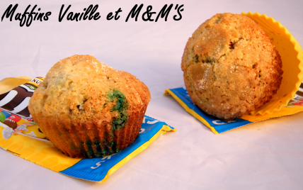 Muffins vanille & M&M'S - Photo par chouya