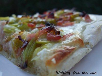 Pizza blanche aux poireaux - Photo par christgOm