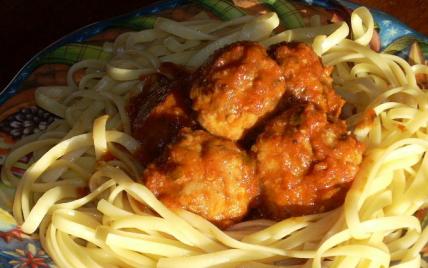 Boulettes de viande aux linguini - Photo par La soupe à la citrouille