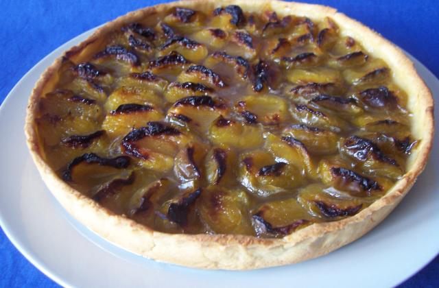 Tarte aux prunes reine claude - Photo par daunis