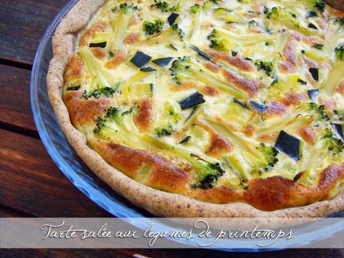 Tarte salée aux légumes de printemps - Photo par greengeekfood