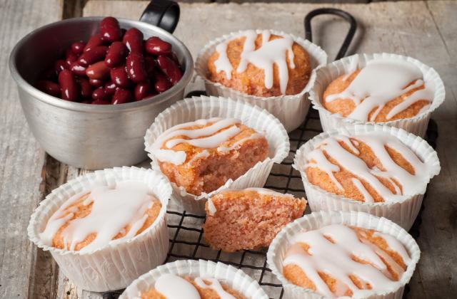 Les cupcakes de haricots blancs à la confiture - Photo par Fédération nationale des Légumes Secs
