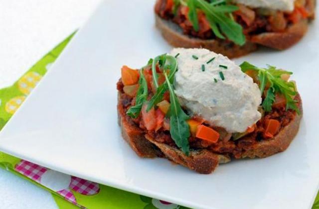 Tartines aubergine et thon - Photo par Coraya