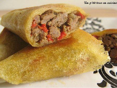 Samoussas au bœuf et au poivron - Photo par sherau