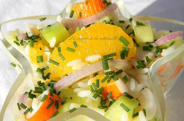 Salade de riz à l'orange et aux Bâtonnets Saveur - Photo par Coraya