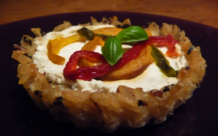 Tartelettes de riz aux poivrons grillés - Photo par Mère et Filles