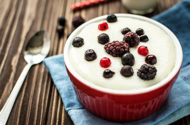 Semoule au lait vanillé et au safran - Photo par 750g