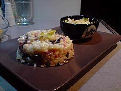 Risotto serrano/artichaud - Photo par chez isa