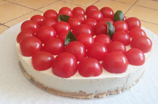 Cheesecake au pesto et tomates cerise au Thermomix - Photo par Dany33