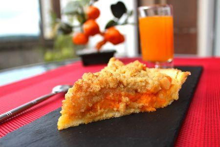 Tarte-crumble aux abricots - Photo par Evacuisine