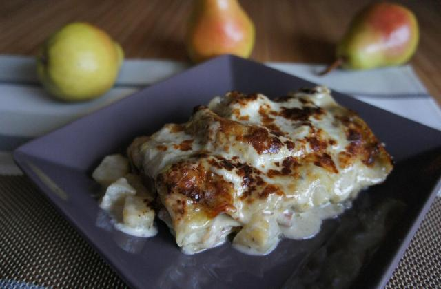 Lasagnes au Roquefort et aux poires - Photo par le book gourmand
