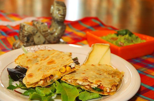 Quesadillas au poulet, maïs et Tomme de Savoie IGP - Photo par jackieyZ