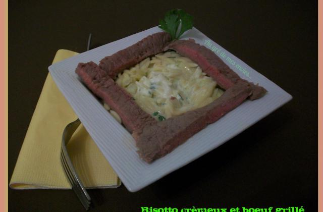 Risotto crémeux bœuf grillé - Photo par Annick