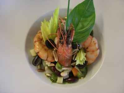 Minestrone de crevettes rôties parfumées « Cour Soleya » - Photo par 750g