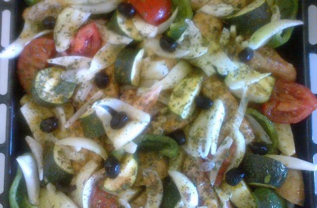 Wings au four et ses légumes provençaux - Photo par valmonA
