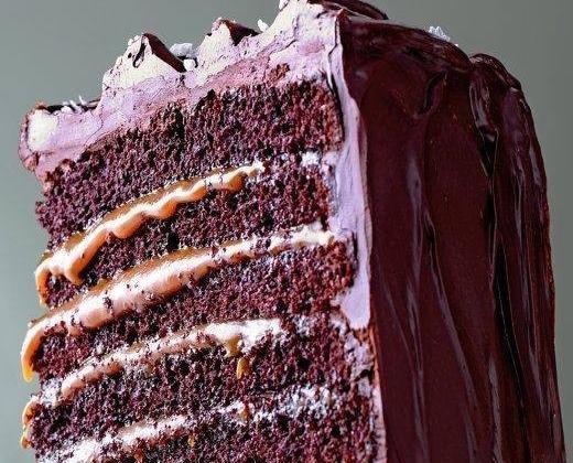 Layer cake au chocolat et caramel - Photo par 750g