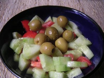 Salade aux tomates et au concombre - Photo par cristiXX