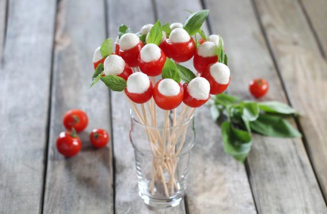 Bouquet de tomates cerises et mozza - Photo par Silvia Santucci