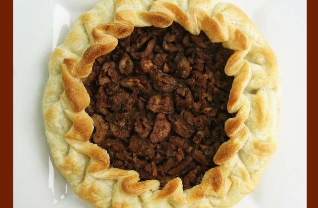 Tarte rustique aux châtaignes, amandes et à la cannelle - Photo par OSER les couleurs dans votre assiette !