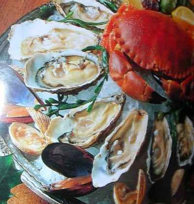 Plateau fruits de mer avec huitre au champagne - Photo par didiertr