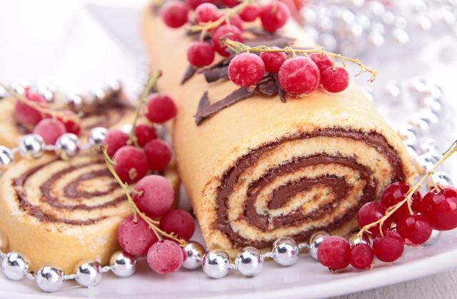 Bûche de Noël poire-chocolat - Photo par 750g
