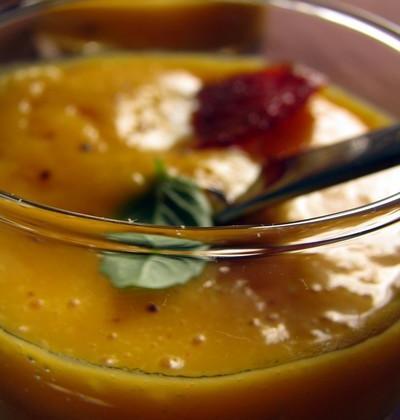 Verrine de butternut au chorizo piquant adouci à l'abricot sec - Photo par dansla6