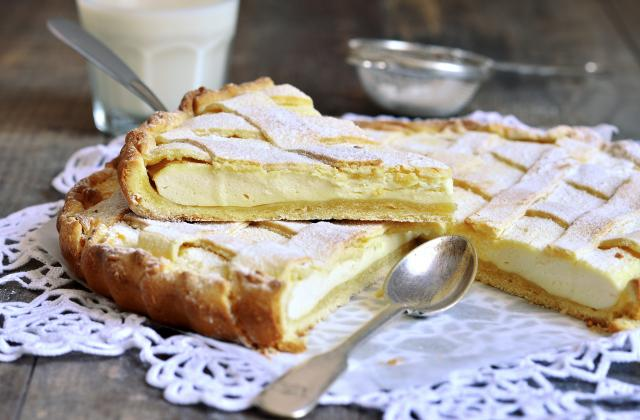 Crostata di ricotta ou tarte à la ricotta - Photo par Bérengère