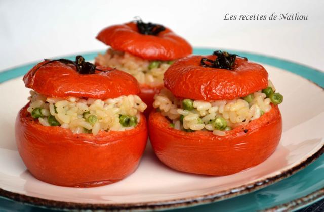 Tomates farcies au risotto, mascarpone, parmesan et petits pois - Photo par Communauté 750g