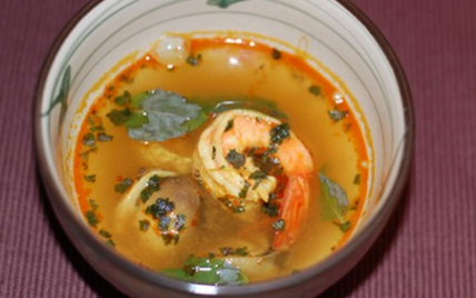 Soupe acidulée aux crevettes - Photo par Babali